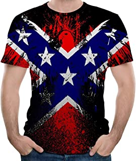 Men's S-3XL Fashion Eagle Graphic 3D Cool Printed Slim Fit Tees Casual Novelty Vintage T Shirts JHKUNO