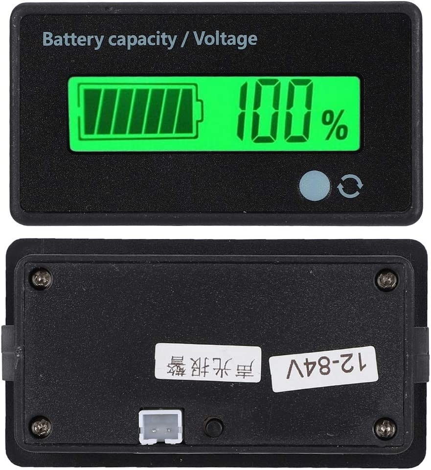 Nunafey GY-6D LCD Battery Indicator, Battery Capacity Monitor, Exactly for Lithium Iron Battery for Lead Acid Battery for Lithium Battery(Green Light)