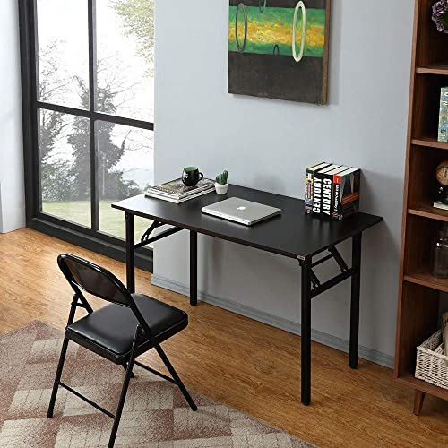 Need Black Writing Desk - 120cm L No Assembly Foldable Computer Table Perfect for Teens/Office/Home AC5CB12060