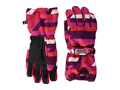 LEGO Kids Snow Gloves with Anti-Slip Grip Membrane (Little Kids/Big Kids) (Dark Pink) Over-Mits Gloves