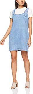 French Connection Women's Pinafore Dress, Stone Wash