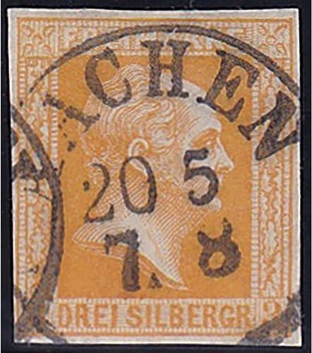 Goldhahn Preu  Nr. 8 c gestempelt geprüft Briefürken für Sammler