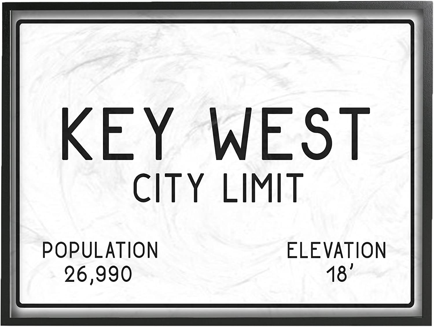 Stupell Industries Key West City Limit Oversized Framed Giclee Texturized Art, Proudly Made in USA