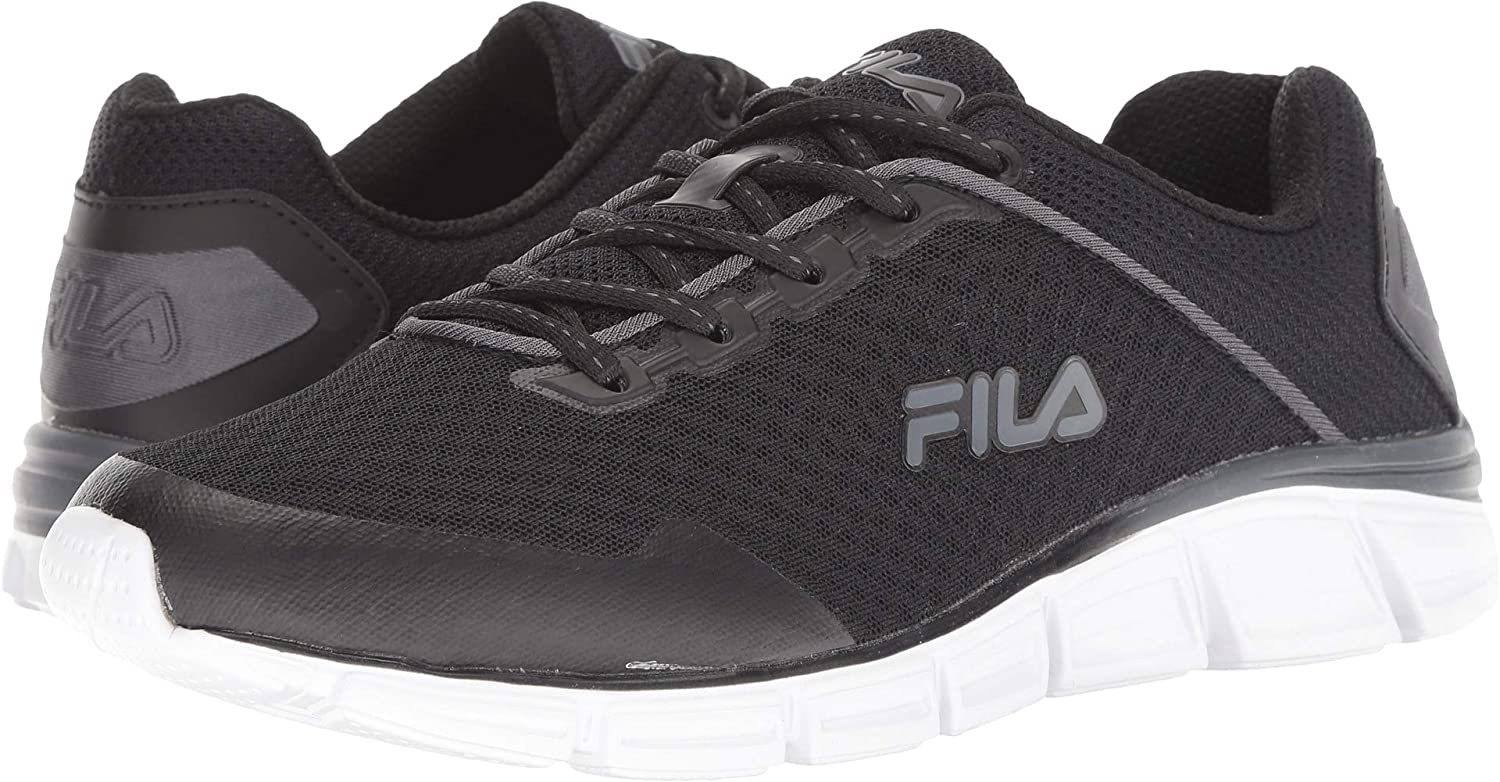 Fila Men's Memory Countdown 5 Running Black Castlerock White 9.5 D US