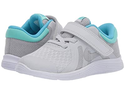 Nike Kids Revolution 4 (Infant/Toddler) (Pure Platinum/Metallic Silver/Wolf Grey) Girls Shoes