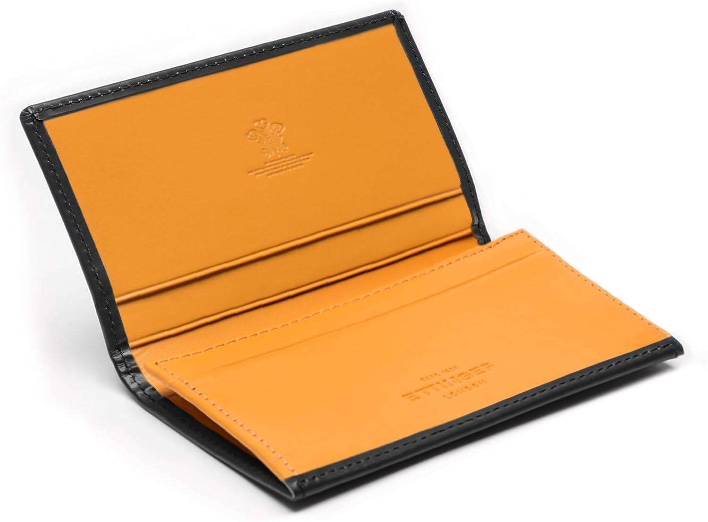 Ettinger Men's Visiting Card Case, Grey and London Tan