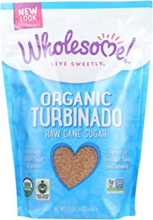 Wholesome Sweeteners Organic Turbinado Sugar, 1.5 Pounds -- 12 per case.