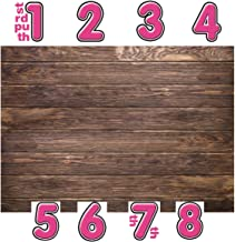 LYWYGG 6x4ft Thin Vinyl Brown Wood Backdrop Photographers Retro Wood Wall Background Cloth Seamless DIY Digital Sticker CP-19-0604