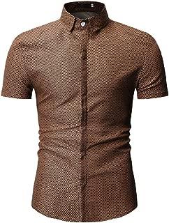 Qiyun Autumn Shirt Men Short Sleeve Shirt Casual Fashion Summer Tops
