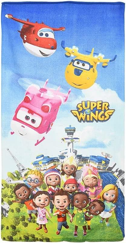 Super Wings Kids Beach Towel 70 X 140 Cm Light Blue