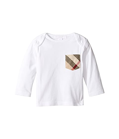 Burberry Kids Long Sleeve Tee w/ Check Pocket (Infant/Toddler)