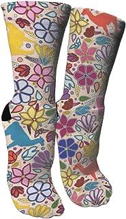 靴下 抗菌防臭 ソックス ペルーのラマスアスレチックスポーツソックス、旅行&フライトソックス、塗装アートファニーソックス30センチメートル長い靴下