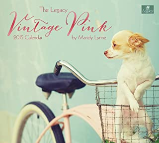 Legacy Publishing Group, Inc. 2015 Mini Wall Calendar, Vintage Pink Adventure by Mandy Lynne (MCA14493)