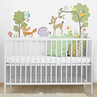 RoomMates Repositionable Childrens Wall Stickers - Woodland Animals