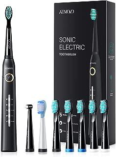 ATMOKO Electric Toothbrush, Sonic Power Whitening Toothbrush with 40,000 VPM Motor |5 Modes|8 Indicator Dupont Brush Heads