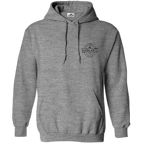 19e10d929805 Koloa Surf(tm) Thruster Surfboard Logo Hoodie-Hooded Sweatshirt -AthHeather/b-M