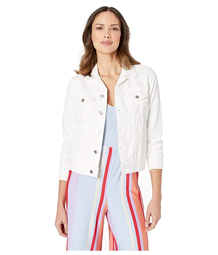 Lucky Brand  Tomboy Trucker Jean Jacket (Clean White) Womens Clothing