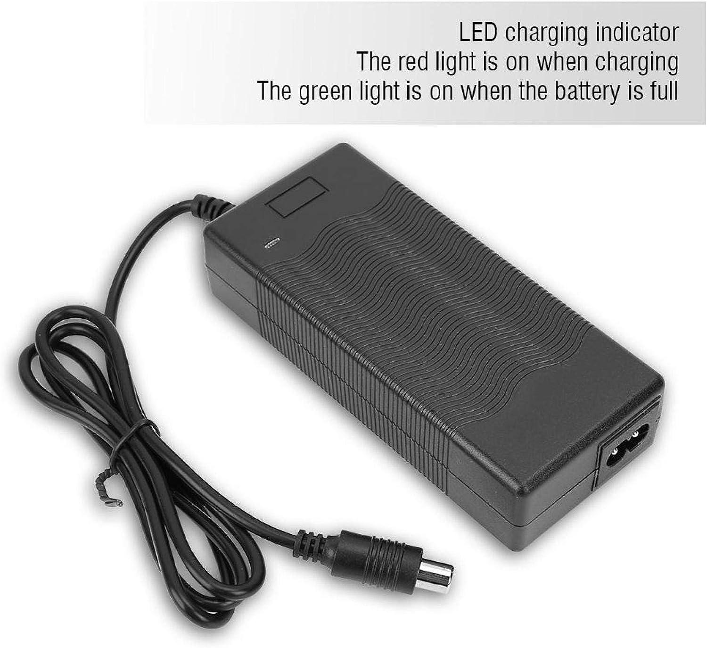VGEBY Cargador de bater/ía Scooter el/éctrico Adaptador de Corriente de Scooter el/éctrico de 42V 2A con Cable de alimentaci/ón de Cargador
