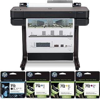 "HP DesignJet T630 Large Format Printer, 24"" Color Inkjet Plotter, Wireless, Bundle 712 29ml Cyan 712 29ml Magenta 712 29ml..."