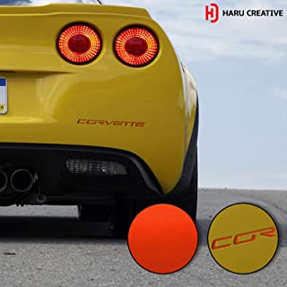 Haru Creative - Rear Bumper Trunk Letter Insert Overlay Vinyl Decal Sticker Compatible with and Fits C6 Corvette 2005-2013 - Metallic Matte Chrome Red