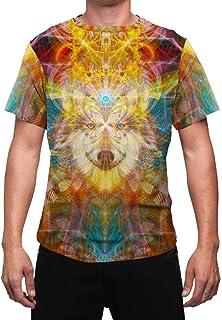 Animal Totem Mens T Shirt   Sacred Wolf Animal Spirit   Masculine   Shaman   Festival Shirt   Rave Shirts   Trippy   BeauWolf