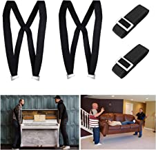 Kingmax Moving Straps, 2-Person Lifting and Moving System - Easily Move, Lift, Carry Furniture, Appliances, Mattresses, Heavy Object Without Back Pain. Great Tool for Moving Supplies (Black)