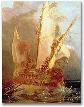 Ulysses Deriding Polyphemus by Joseph Turner, 18x24-Inch Canvas Wall Art