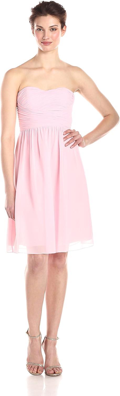 women Morgan Women's Sarah Short Strapless Sweatheart Neckline Dress