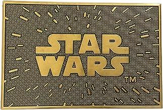 Star Wars Logo Gold Rubber Doormat