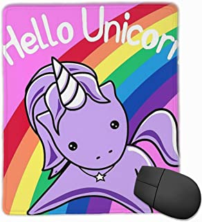 KEEHUA Hello Unicorn (Clean) Most Accurate Altered Carbon Non-Slip Rubber Mousepad Gaming Mouse Pad with Stitched Edge 10x12 in