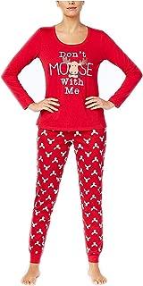 Family Pajamas Women's Holiday Moose Pajama Set