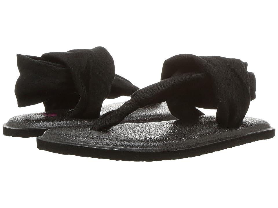 Sanuk Kids Yoga Sling Burst (Toddler/Little Kid) (Black) Girls Shoes