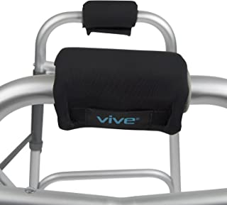Vive Walker Grips - Padded Hand Covers - Soft Cushion Padding Medical for Folding Rolling Wheelchair, Rollator Handle, Senior, Elderly Grippers - Crutch Handle Pads - Mobility Aid Hand Cushion