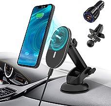 شارژر بی سیم مغناطیسی اتومبیل برای آیفون 13/13 Pro/13 mini/12/12 Pro/12 Pro Max/12 Mini ، 15W Fast Charging Wireless Mount Car Car ، شارژر نگهدارنده تلفن تلفن جلوپنجره ، هواکش ، با آداپتور QC 3.0