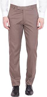 American-Elm Men's Cotton Formal Trouser- Light Brown