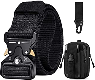BESTKEE Men Tactical Belt 1.5 Inch Heavy Duty Belt, Nylon Military Style with Quick-Release Metal Buckle, Gift with Tactic...