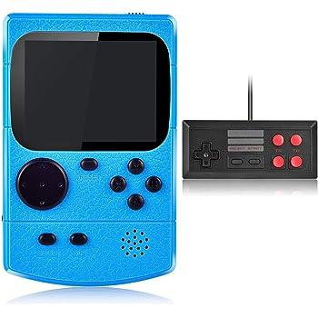 Kiztoys Console de Jeu Portable,Console de Jeu Retro FC,avec 400 Jeux FC Classiques,Écran Couleur de 2,8 Pouces,Prend en Charge la Connexion de la Connexion TV Chargement USB,pour Les Enfants,Adults