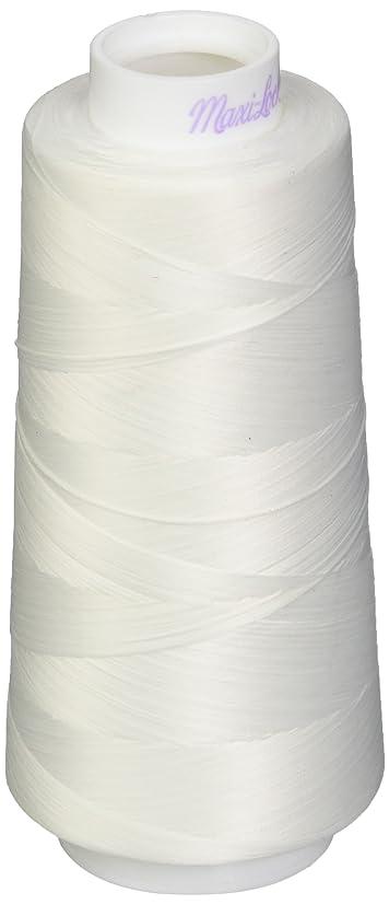 American & Efird AME54.32109 White Maxi Lock Stretch Thread, 2000yd