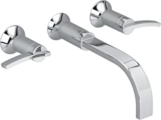 American Standard 7430.451.002 Berwick 2 Lever Handle Wall Mount Lavatory Faucet, Polished Chrome