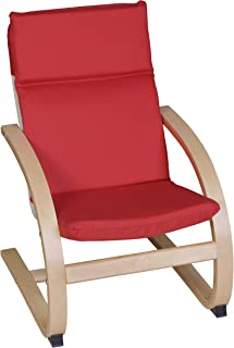 Niche Mia Childrens Bentwood Reclining Chair, Natural/Red