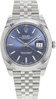 Datejust 41 Blue Dial Automatic Mens Watch 126300BLSJ