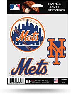 Rico Industries New York Mets Triple Sticker Multi Decal Spirit Sheet Auto Home Baseball