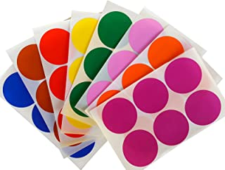 Royal Green Round 2 inch Sticker 50mm dot Labels Colored Circles - Permanent Adhesive Stickers in 8 Colors - 384 Pack