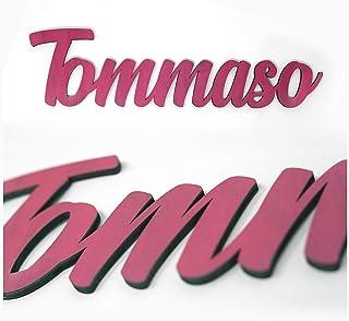 Nombres personalizados en madera elige color y tamaño • Nombres Decorativos en madera natural y con texturas ó color !! • ...