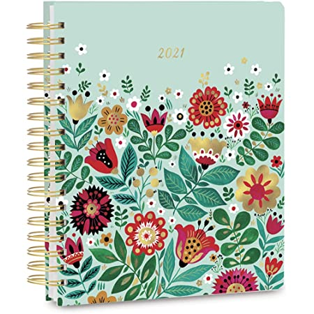 """High Note 2021 Planner by Dinara Mirtalipova, Fairytale Floral 17-Month Deluxe Hardcover Planner, August 2020 - December 2021, 9"""" x 10"""""""