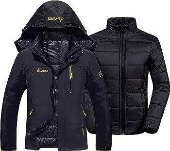 GEMYSE Women's Waterproof 3-in-1 Ski Snow Jacket