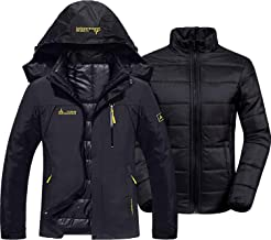 GEMYSE Women's Waterproof 3-in-1 Ski Snow Jacket Puffer Liner Insulated Winter Coat