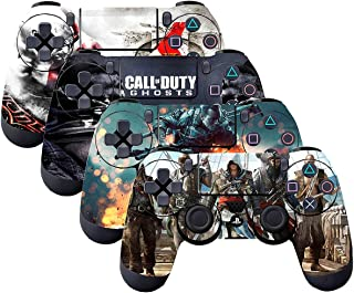SubClap 4 Packs PS4 Controller Skin, Vinyl Decal Sticker Cover for Sony Playstation 4 DualShock 4 Wireless Controller Hero