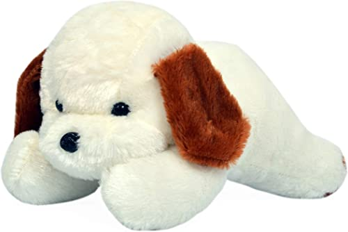 Richy Toys White Dog Cute Plush Soft Toys for Kids Birthday Gift 26 cm