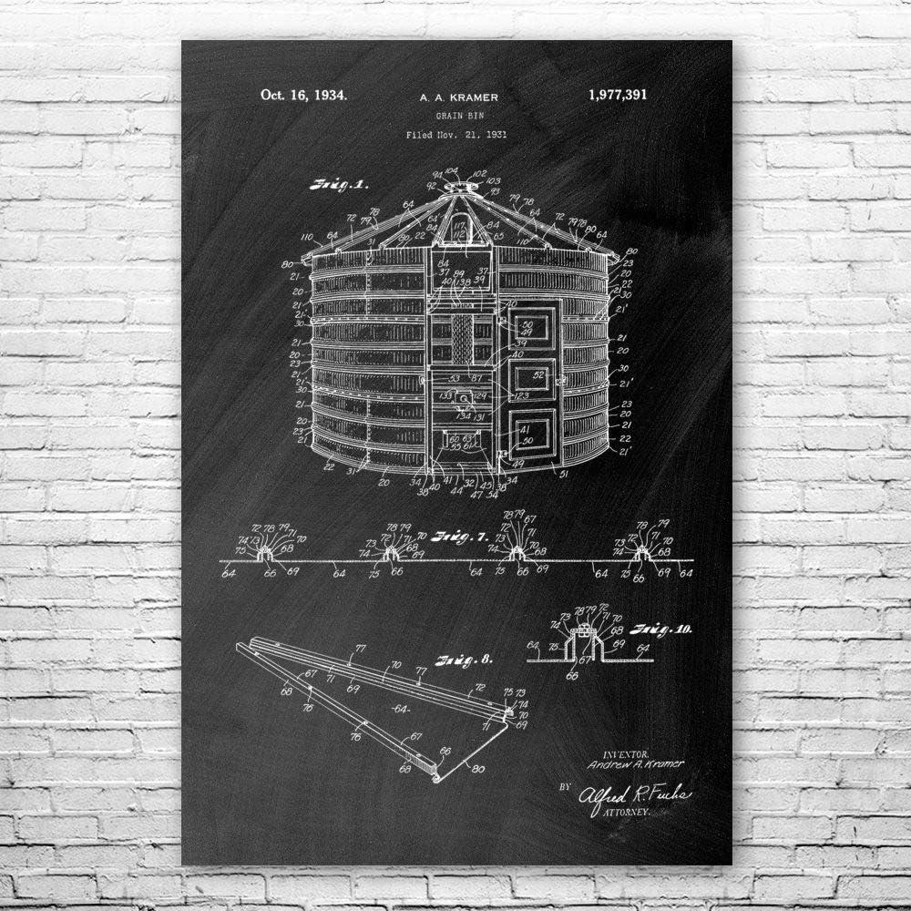 Patent Earth 今だけ限定15%OFFクーポン発行中 Grain Storage Bin Print Fa Poster Art 激安価格と即納で通信販売 Agriculture